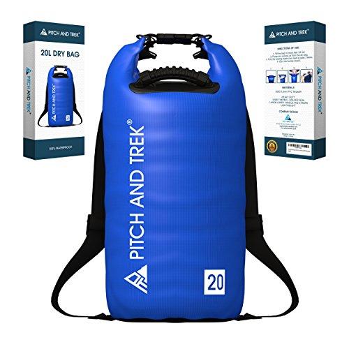 Bolsa Impermeable (20L, Azul) Bolsas Estancas Seca Impermeable Con Tir