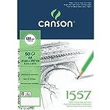 Canson 1557 - Papel de dibujo (120gsm, A4, Paquete de 50), color blanco