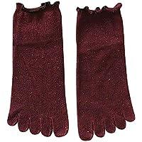 VJGOAL Moda casual para mujer Color sólido con encaje Punta Calcetines Calcetines de cinco dedos Algodón