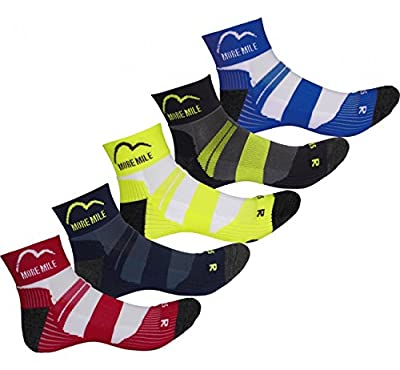 More Mile Mens Endurance 5 Pair Pack Coolmax Running Socks