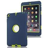 Coque iPad Mini 1/2/3, XMTIKO Housse Case Coque Etui Smart Slim-Fit Pliable pour Apple iPad Mini 1/2/3 avec Fermeture Magnétique Support Veille Automatique (Bleu)