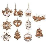 Michelle ShawLO Weihnachtsdekorationsset Lebkuchenanhänger Kreatives kleines Geschenk Weiche Keramik Weihnachten Tier Schneeflocke