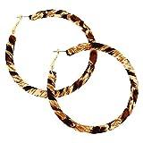 Claire's - Femmes Créoles torsadées léopard 70mm couleur doré