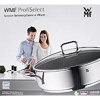 WMF ProfiSelect Servierschmorpfanne Ø 28cm mit Deckel poliert induktionsgeeignet