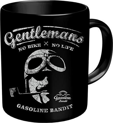 Gasoline Bandit Kaffeebecher für den Biker: Gentlemans - No Bike No Life - Original Design 200110