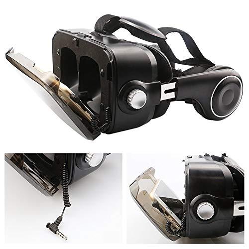 IN THE DISTANCE Mini VR Box Virtual Reality Brille Virtual Reality Gafas Karton Kopfhörer für Smartphone Smartphone (Color : Z4 BK Add 051)