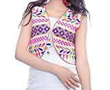 #9: Bilochi Women's Kutch Work Multi-Coloured Short Jacket(Gujrati Work) (Free Size,Assorted Colours and Assorted Designs)
