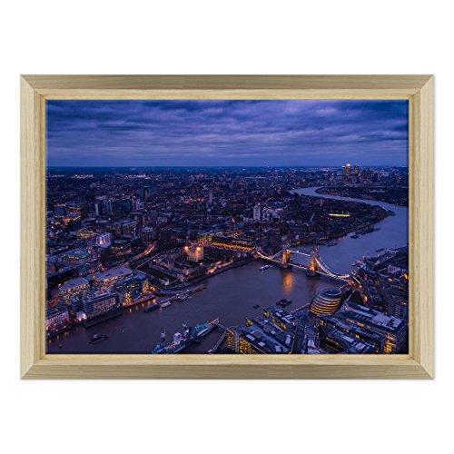 Bild auf Leinwand Canvas-Gerahmt-fertig zum Aufhängen-London UK-westeminster-Bigben-England Dimensione: 70x100cm E - Colore Legno Naturale Design - Camden Esszimmer-möbel