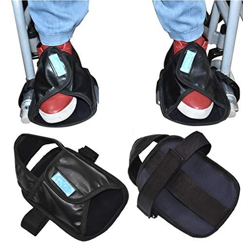 OUUCL-WALKER Rollstuhl-Constraint-Schuhe - Medical Fuß Griffige Proctors Waschbar Nonslip Rollstuhl Pedal Wrap Fußstützen Abdeckung Anschnallriemen (1 Paar)