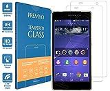 PREMYO [2 Pièces] verre trempé Sony Xperia Z2. Film protection Xperia Z2 avec un degré de dureté de 9H et des angles arrondis 2,5D. Protection écran Xperia Z2