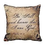 Be Still Psalm 46 10 Christian Throw Pillow Case 1818