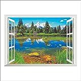 Wapel 3D-Wall Sticker Wallpaper Fake Fenster Europa Anzeigen Home Decor Art Vinyl Decals Abnehmbaren Aufkleber Glücklich Verkauf Ap 50 Cm * 70 Cm