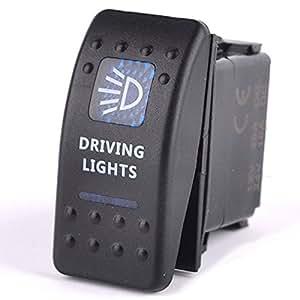 BreaDeep imperméable 5 broches feux de route ON/OFF Interrupteur à bascule double éclairage LED pour voiture/Auto, Moto, Bus, RV, bateau et autres véhicules 12–24 V