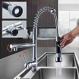 Auralum® Chrom Küchearmatur Spüle Waschtisch Armatur Mischbatterie Wasserhahn