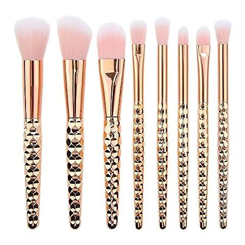 Frola–Pro 8pcs Lot de pinceaux de maquillage, poudre Fond de teint Blush Fard à paupière blending Contour kit de pinceaux