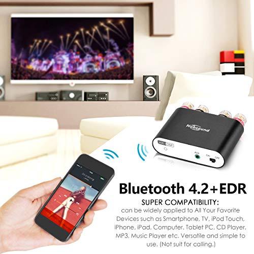 Digital Bluetooth 4.2 Amplifier 2.0 Channel Stereo Power Audio Amp Mini Digitaler Verst/ärker 50W x 2 Nobsound NS-10G PRO Hi-Fi DSP 100W Without Power Supply, Silver