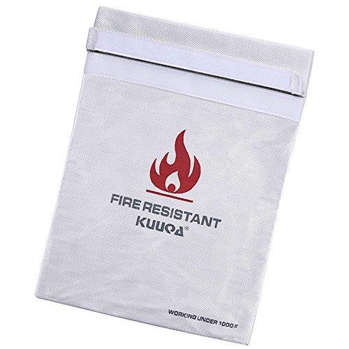 Kuuqa Bolsa Resistente al Fuego del Document Funda de Prueba de Fuego,...