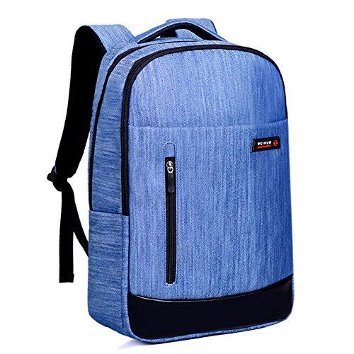 Laptop Tasche Rucksack Leichtgewichtiger Backpack 15.6-17 Zoll Wasserdichte Laptoptasche Für Alltag Stadt Business Denim Blau