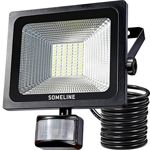 30W Strahler LED außen Außenwandleuchten Strahler mit Bewegungsmelder IP66 Wasserdicht Fluter PIR-Außenleuchten Flutlicht SOMELINE LED Flutlichtstrahler -