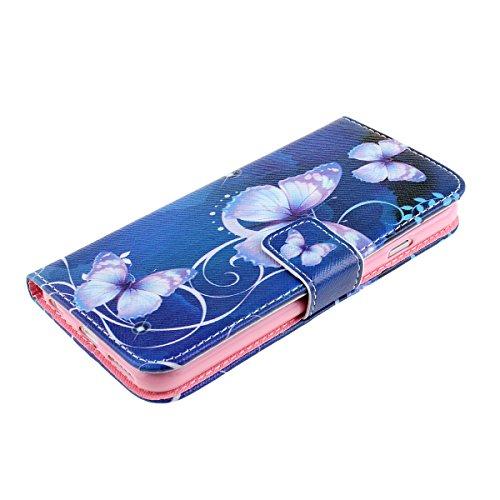 Ukayfe iphone 6 Copertura, Serie di Natale Custodia Ultra Slim Morbido TPU Gel Silicone Protettivo Skin Protettiva Shell Case Cover per Apple iPhone 6/6S (4.7 pollice ) Con Stilo Penna - Bianco neve farfalla#1
