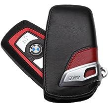 BMW llavero piel genuina, cubierta color rojo (82292219909)