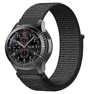 Fintie Armband für Galaxy Watch 46mm / Gear S3 Frontier/Gear S3 Classic – Premium Nylon Atmungsaktive Uhrenarmband Ersatzband mit Verstellbarem Verschluss
