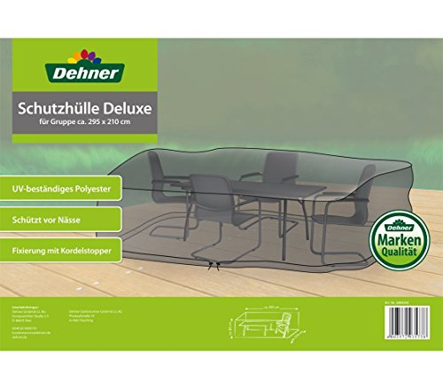 Dehner Schutzhülle Deluxe für Gartenmöbel-Gruppe, ca. 295 x 210 x 80 cm, Polyester, anthrazit