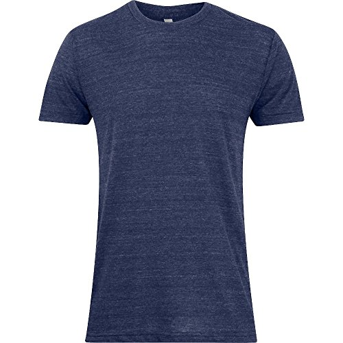 American Apparel Mens Power-Washed 100% Cotton Fine Jersey T-Shirt Navy