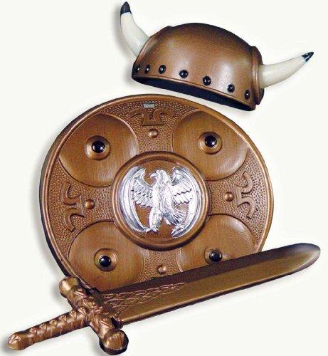 Wikinger Set Wikingerset 3tlg Helm,Schwert,Brustschutz (Kinder Wikinger Helm)