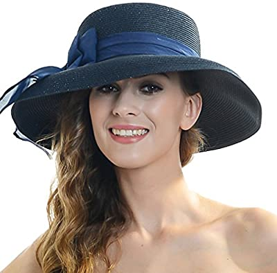 forbusite mujeres de lazo grande ala ancha anti UV Sol Sombrero WK288
