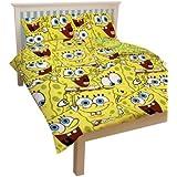 Character World SPB-FRA-MS2-MSCx-06SP - Juego de funda para edredón y almohada, diseño de Bob esponja
