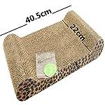 FOCUSPET Comfort Cat Kitten Scratch Box Board Leopard Grain Pattern Catnip Pet Toy Play Activity 11