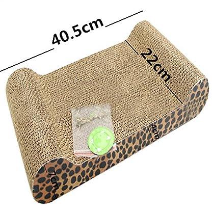 FOCUSPET Comfort Cat Kitten Scratch Box Board Leopard Grain Pattern Catnip Pet Toy Play Activity 5