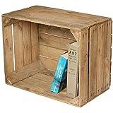 Sólido Caja de fruta de la Antiguo Land a la Muebles & Construcción de estante, sin Inscripción + Natural