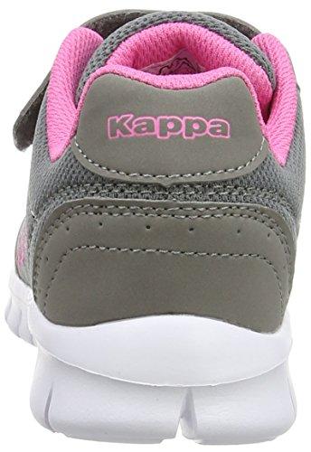 Kappa Mädchen Note Kids Low-Top Grau (1627 grey/l'pink)