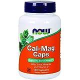 Cal-mag caps - 120 gelules - Now foods