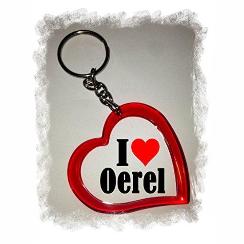 Druckerlebnis24 Herzschlüsselanhänger I Love Oerel, eine tolle Geschenkidee die von Herzen kommt  Geschenktipp: Weihnachten Jahrestag Geburtstag Lieblingsmensch