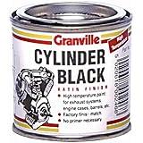 Peinture haute température–250ml–Noir satiné