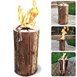 50cm Kiln Dried Swedish Candle Fire Pit Log - Easy Light - Summer Bonfire Wedding Party Flame Logs - Comes with THE LOG HUT® Woven Sack.