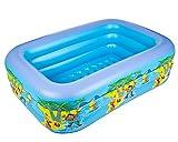 LINAG Kinder Aufblasbare Schwimmbad Pool Planschbecken Sand-Teich Wasser Tragbaren Faltbar Sicherheit Wanne Drei Schichten Badewanne Strand
