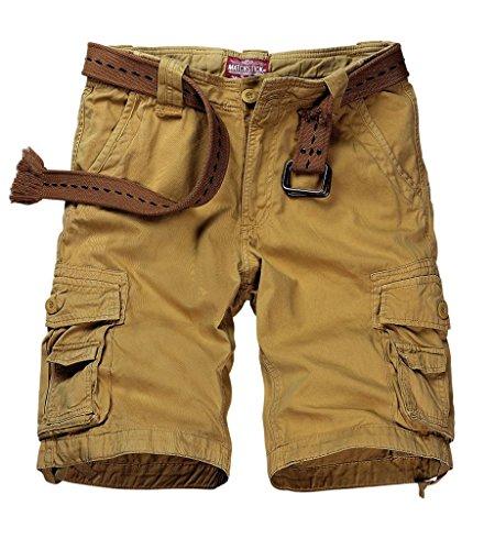 match-mens-twill-cargo-shorts-quick-dry-summer-shorts-s36123612-khaki36w-x-regular
