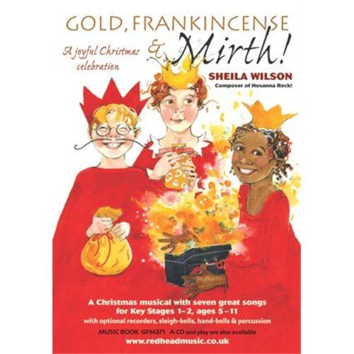 Gold Glockenspiel (Sheila Wilson: Gold, Frankincense And Mirth! (Music Book). Für Einstimmig, Klavierbegleitung, Gitarre(mit Akkordsymbolen), Mirliton/ Zwiebelflöte, Schellen, Sopran-Blockflöte, Glockenspiel)