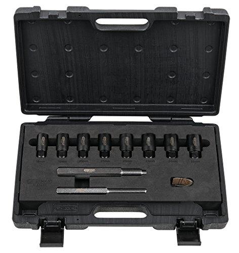 KS Tools 913.1480 Kit de 10 accessoires de démontage de boulons antivol de roues