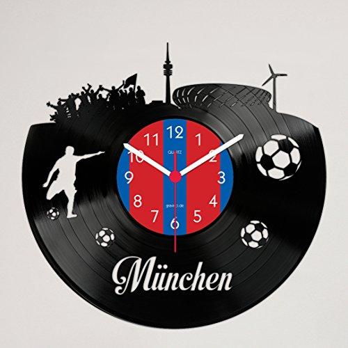 Gravinci Schallplatten-Wanduhr München Fan