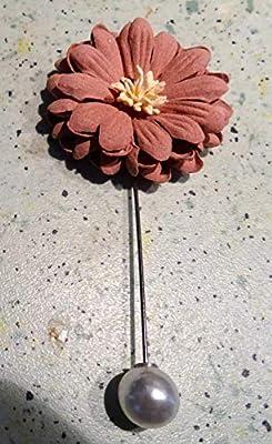broche epingle lavallière fleurs