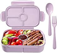 Bento Box for Adults,Lunch Container for Kids,3 Compartments Portion Lunch Box,Food-Safe Materials,BPA-free,Le