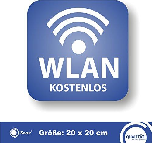 Preisvergleich Produktbild Aufkleber 'WLAN - KOSTENLOS'. (hin_263). Für Ihre Bäckerei,  Café,  Restaurant oder Geschäft. / Free Wlan / kostenloses W-Lan / Hinweis auf kostenfreies W-Lan