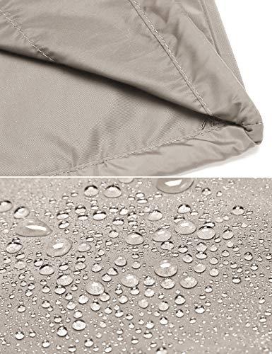 Damen Regenjacke Regenmantel mit Kapuze Lang Windbreaker Outdoor Wasserdicht Atmungsaktive Jacke