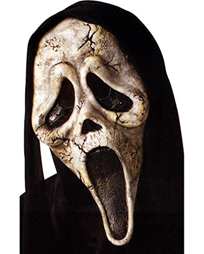 Scream Zombie Maske mit schwarzer Kapuze (Scream Outfit)