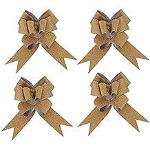 kraftz®–30mm oro metálico con purpurina mariposa lazos para fiestas boda decoración del coche de regalo (Pack de 10)